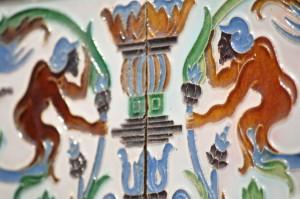 Détail de décoration murale dans un palais sévillan