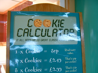 Le Cookie Calculator (Aéroport de Gatwik, 1 juillet 2005)