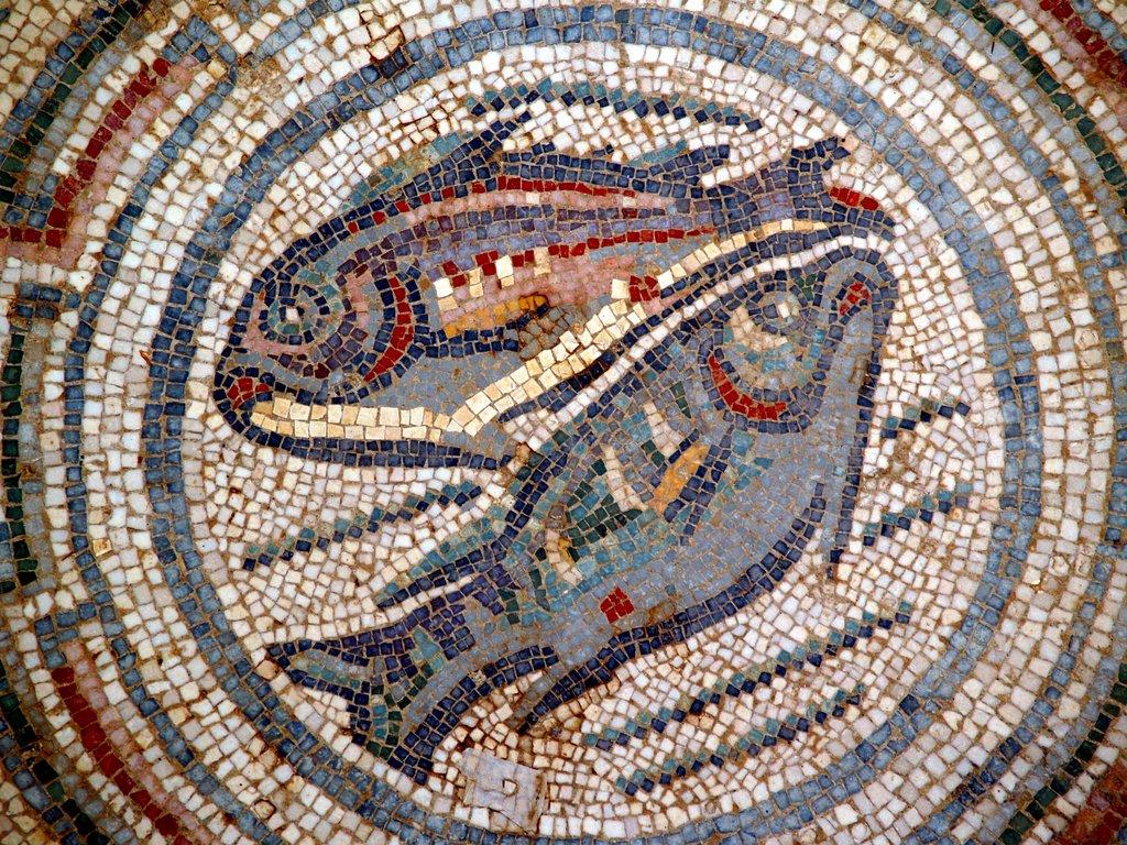 Villa romaine de casale for Comment coller de la mosaique